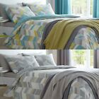 ANTINA MODERN GEOMETRIC CHEVRON DUVET COVERS EASY CARE QUILT SET