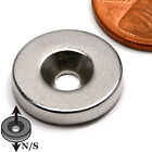 """CMS Magnetics® N42 Neodymium Disc Magnet 5/8""""x 1/8"""" with one #6 Countersunk Hole"""