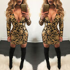 Summer Women's Bandage Bodycon Long Sleeve Evening Party Cocktail Mini Dress NEW