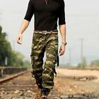 Fashion Men's Military Combat Overalls Tactical Work Pants Cargo Casual Trouser