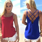 Hollow Out Vest Spaghetti Strap Camisole Tank Top Tops Bouse T Shirt  Sexy