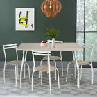 Kitchen Table with 4pcs Dining Room Chairs Set for Small Dining Space