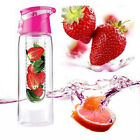 800ml Portable Fruit Infuser Infusion Drink Juice Water Bottle Cup Sports ES B