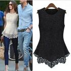 Sexy Women's Lace Sleeveless T-Shirt Peplum Tops Blouse Clothes Party Plus Size
