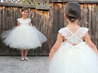 White/Ivory Flower Girl Dress Princess Toddler Baby Wedding Party Pageant Dress