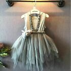 Girls Kids Toddler Baby Flower Princess Party Pageant Wedding Tulle Tutu Dresses