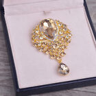 Vintage Sparkle Big Crystal Peacock Brooch Pin Rhinestone Jewelry for Women