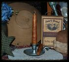 6-PRIMITIVE GRUBBY GRUNGY RUSTIC TAPER CANDLES 25 FRAGRANCES SCENTS BOWL FILLERS