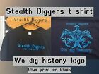 Stealth diggers blue black we dig history Shirt Metal Detecting patriots LFOD