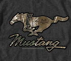 Ford Mustang Real Tree Camo Pony GRAY Adult T-shirt