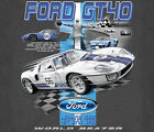 Ford GT 40 World Beater GRAY Adult T-shirt