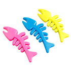New 1PCS Pink Blue Fun Cute Fish Bone Dog Chewing Toys Pet Cat Puppy Toy PTFIS01
