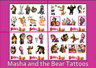 MASHA and the BEAR friends TATTOOS  temporary tattoo  WATERPROOF LAST 1WEEK +