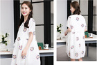 New Summer Spring Pregnant Women Dress Short Sleeve Fashion Embroidery Dress