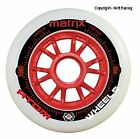 8 Red Atom Matrix 86a Outdoor Inline Speed Skate Wheels