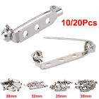 20 25 32 38mm BROOCH BACKS Silver Jewellery Findings Beads Bar Pins Safety Craft