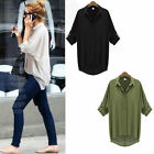 2017 Fashion Women Button Down Chiffon T Shirt Long Sleeve Tops Blouse Shirts