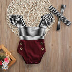 Newborn Kids Baby Infant Girl Bodysuit Cotton Romper Jumpsuit Clothes Outfit Set
