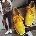 Fashion New Womens Lace-up Platform Oxfords Creepers Shoes Retro Casual US4.5-8