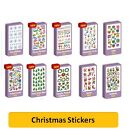 XMAS LASER REWARD STICKERS {Purple Peach} Arts/Crafts/Fun/Christmas/Santa/Holly