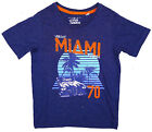 Boys Vibrant Miami 70 Print Cotton T-Shirt Top Tee 3 to 4 Years SALE