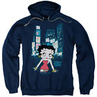 Betty Boop Square Mens Pullover Hoodie Navy $39.95 USD