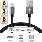 1 3 6 10 FT Apple MFI Cert Lightning Cable Charger for iPhone 11 Pro XS Max XR 8