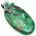 HOLY CROSS GREEN SONORA SUNRISE (CUPRITE CHRYSOCOLLA) 925 SILVER PENDANT J31133