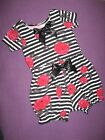 New Baby Girls Black white red Roses T-shirt top Bloomers Headband Set Gift Goth