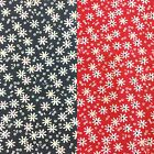 "Floral POLYCOTTON FABRIC - Crazy Daisy - Flower Material - 114cm / 45"" Wide"