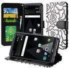 For LG Stylo 3 Stylo 3 Plus Textured Design Wallet Flip Creditcard Cover Case