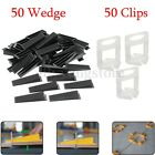 50/100pcs Black Tile Flat Leveling System Wall Floor Spacers Strap Device Tools
