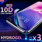3x Galaxy Note 8 S9 S8 Plus Full Coverage Soft TPU Screen Protector for Samsung