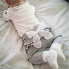 Baby Trousers pants White Chiffon big bowknot spring and autumn Leggings JR