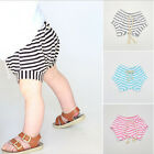 Fashion Baby Girls Summer Hot Pants Bloomers Cotton Striped PP Shorts Bottoms JR