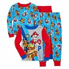 Toddler Boys Pajamas 4 Piece Cotton Pajama Set