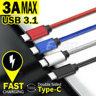 USB 3.1 Type C Data Fast Charging Cable USB-C for Samsung Galaxy S8 S8+ Plus