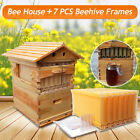 7pcs/4pcs Honey Auto Outflow Hive Beehive Frames + Beekeeping Super Brood Box