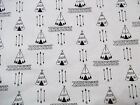 Handmade cotton fitted crib sheet Arrows/Teepees /white,black,Neutral