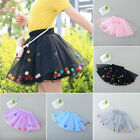 Girls Sweet Dancewear Skirt Tutu Princess Baby Kid Party Lace Mesh Skirts Summer