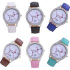 New Ladies Women's Classic Simple Retro Dial Faux Leather Quartz Wrist Watches