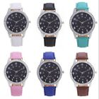Women's Rhinestone Crystal Black Dial Stainless Steel Analog Quartz Wrist Watch