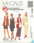 McCalls 9411 Plus Womens 2 Hour Vest Tunic Skirt Sewing Pattern ~ Size 18W-22W
