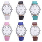 Popular Women Lady Rhinestone Crystal Stainless Steel Analog Quartz Wrist Watch
