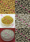 4/6/8 mm 3 Colors Acrylic Round Shape Loose Charm Beads 180 - 700 pcs Hot Sell