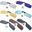 Sunglasses Polarized Clip On Driving Glasses Day Night Vision Lens UV400 Myopia