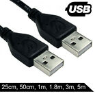 USB 2.0 A to A CABLE Male / Male BLACK or BEIGE 0.5m 1m 1.8m 3m 5m