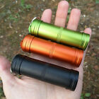Mini Outdoor Emergency Pill Box Container Alloy Sealed Waterproof Tank w/Keyring