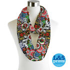 NORTHERN SOUL PATCHES DESIGN INFINITY SCARF JERSEY CHIFFON FASHION LOOP SCARVES