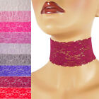 "Stretch Lace Choker extra wide 2 - 2.25 inches custom necklace elastic 2"" Pink +"